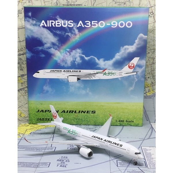 Phoenix A350-900 JAL Green A350 Titles JA03XJ 1:400
