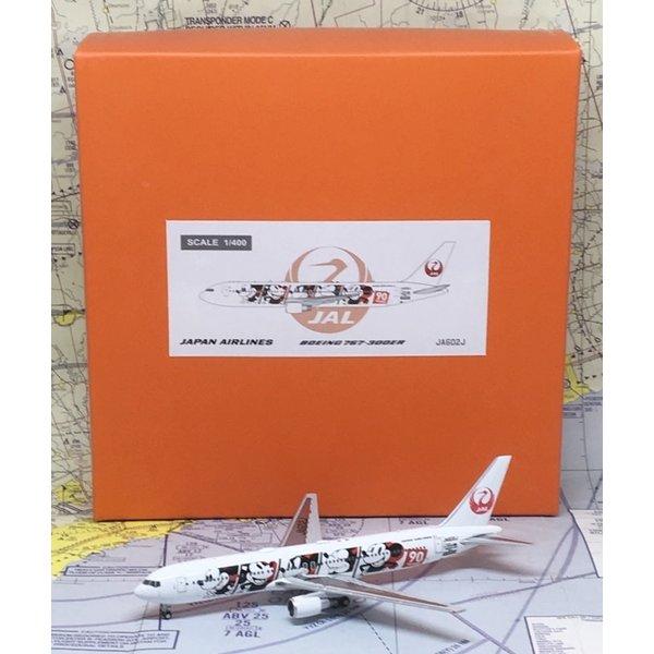 JC Wings B767-300ER JAL Japan Air Lines Mickey 90 Years JA602J 1:400