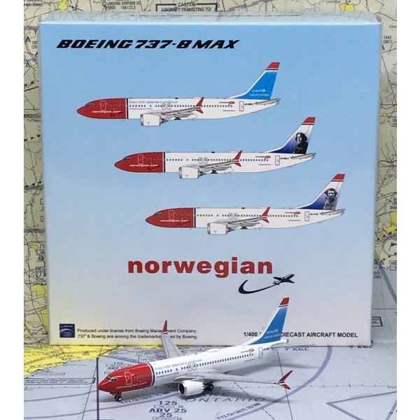 JC Wings B737 MAX8 Norwegian UNICEF LN-BKC 1:400