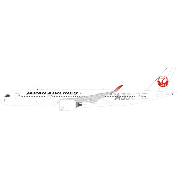 InFlight A350-900 JAL Japan Airlines A350 Silver JA02XJ 1:200 stand