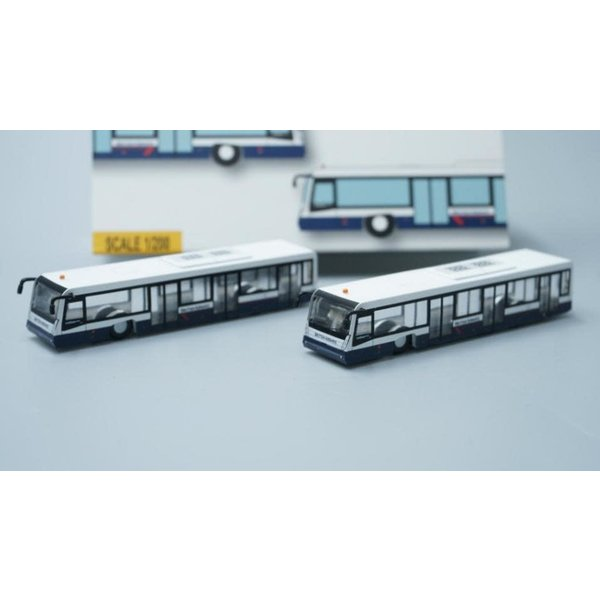 JC Wings Airport Bus QANTAS version (4 in each set) 1:400