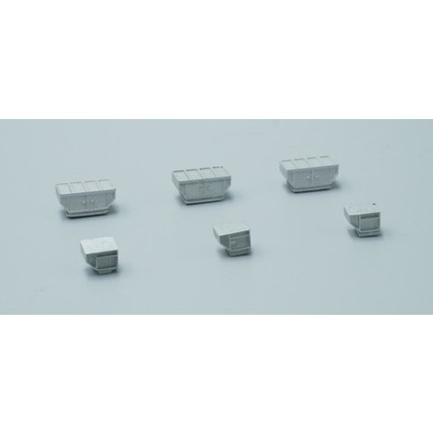 GSE Cargo Containers Set (6 in set) 1:400