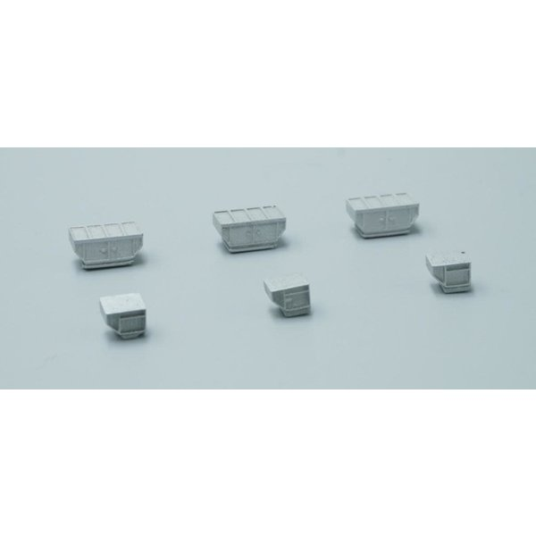 JC Wings GSE Cargo Containers Set (6 in set) 1:400