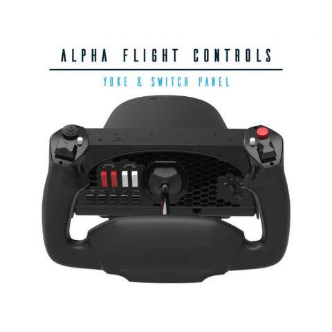 Alpha Flight Control Yoke and Switch Panel