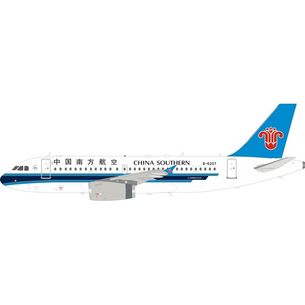 InFlight Airbus A319 China Southern B-6207 1:200 +NSI+