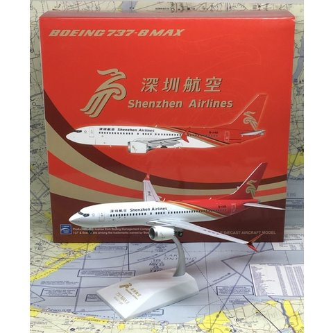 B737 MAX8 Shenzhen Airlines B-1146 1:200 w/stand