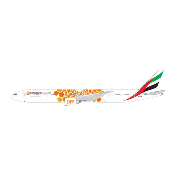 Gemini Jets B777-300ER Emirates Orange Expo 2020 A6-EPO 1:200