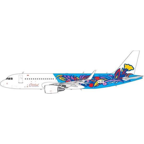 Phoenix A320s CitiLink Floral Retro Livery PK-GQI 1:400
