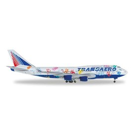 Herpa B747-400 Transaero Flight Of Hope EI-XLO 1:500