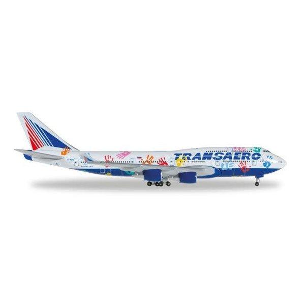 Herpa B747-400 Transaero Flight Of Hope EI-XLO 1:500