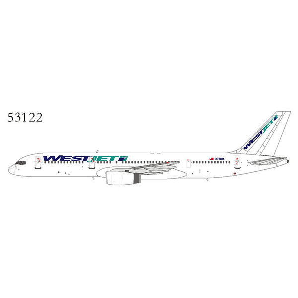 NG Models B757-200 WestJet Livery N750NA (leased) 1:400