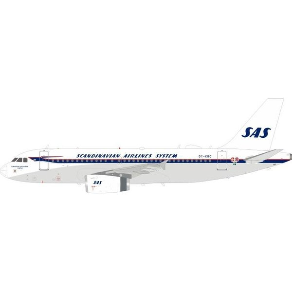 InFlight A319 SAS Scandinavian OY-KBO 1:200 with stand