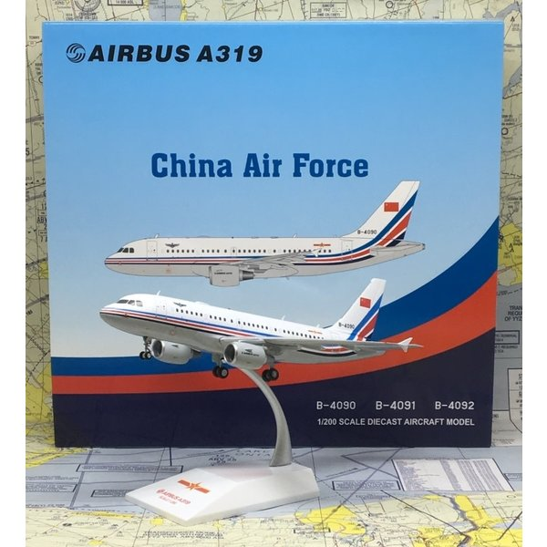 JC Wings A319 China Air Force PLAAF B-4090 1:200