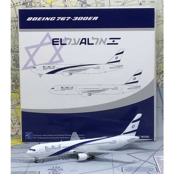 JC Wings B767-300ER El Al 4X-EAJ 1:400 with antennae