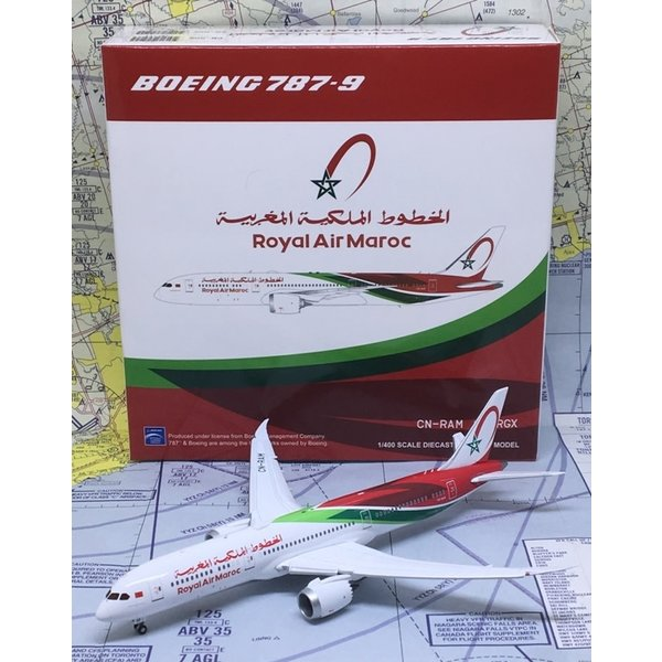JC Wings B787-9 Royal Air Maroc 2018 c/s CN-RAM Flaps