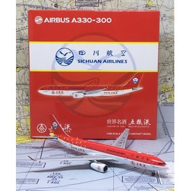 JC Wings A330-300 Sichuan Airlines Wuliangye B-5923 1:400
