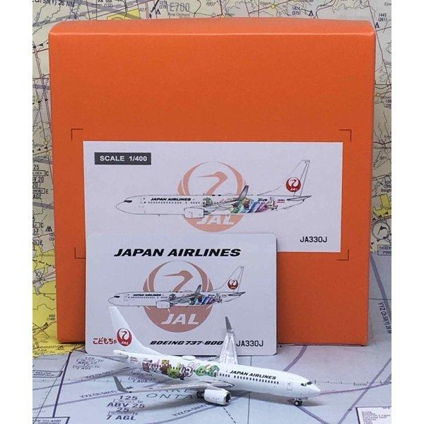 JC Wings B737-800W JAL Japan A/L Shimajiro Jet JA330J 1:400