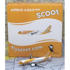 JC Wings A320neo SCOOT 9V-TNA 1:400 with Antenna
