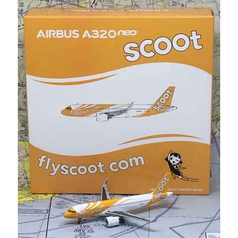 A320neo SCOOT 9V-TNA 1:400 with Antenna