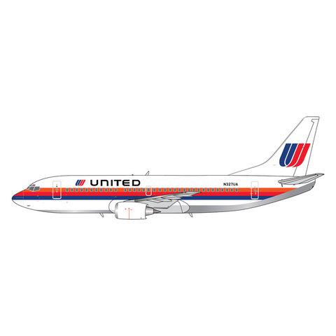 B737-300 United Saul Bass livery N327UA 1:400