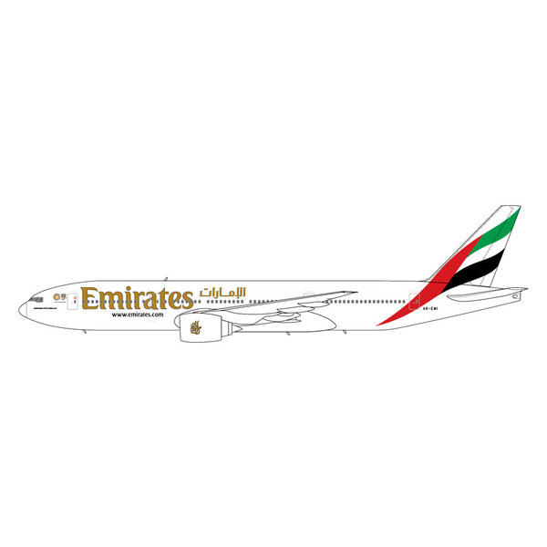 Gemini Jets B777-200LR Emirates Expo 2020 logo A6-EWI 1:400