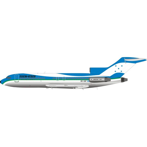 InFlight Boeing B727-100 SAHSA HR-SHF 1:200 with stand