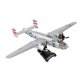 Postage Stamp Models B25J Mitchell USAAF Panchito 1:100 with stand