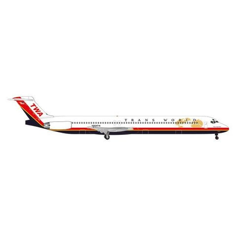 MD83 TWA Trans World final livery 1:500