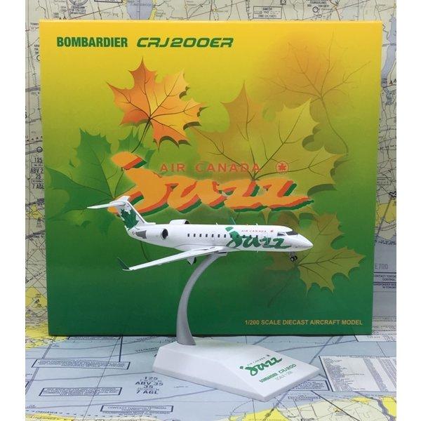 JC Wings CRJ200 Air Canada Jazz old c/s green leaf C-FDJA 1:200 ++SALE++
