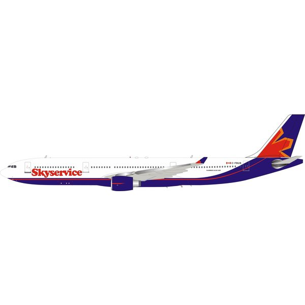 InFlight A330-300 Skyservice C-FBUS 1:200 with stand