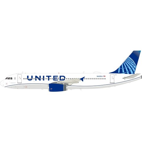 A320 United 2019 livery N449UA 1:200 with stand +NSI+
