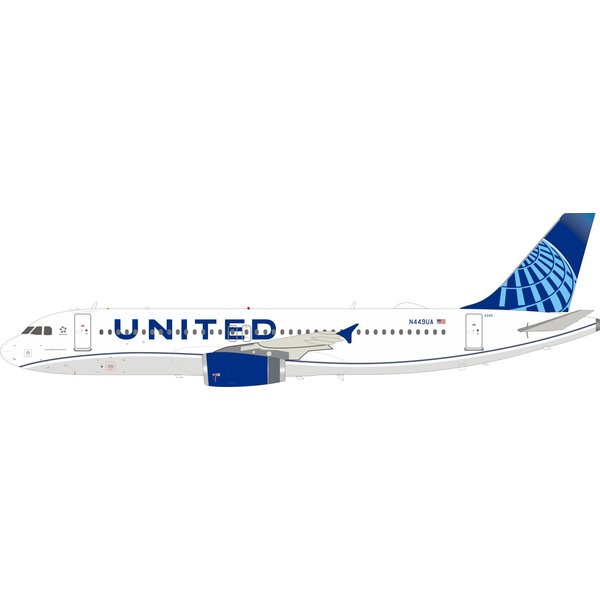InFlight A320 United 2019 livery N449UA 1:200 with stand +NSI+