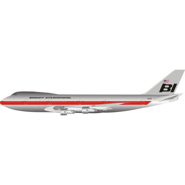 InFlight B747-100 Braniff International N9666 1:200 Polished