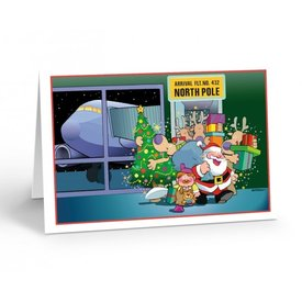 Stonehouse Collection North Pole Airport Arrival Boxed Cards (18)