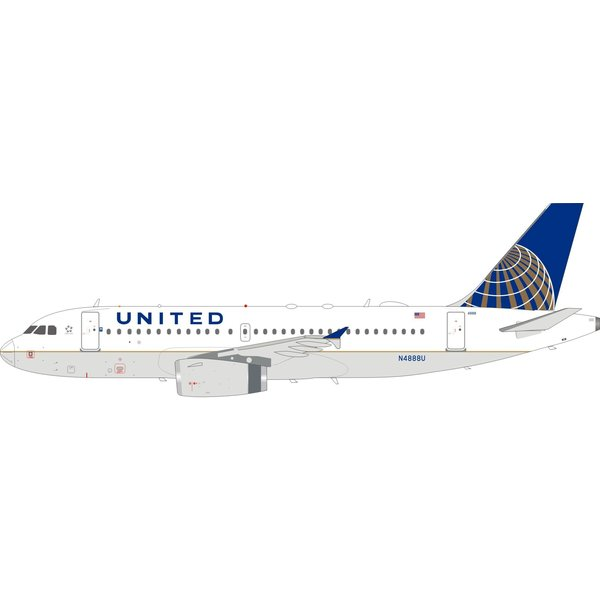 InFlight A319 United Airlines 2010 livery N4888U 1:200