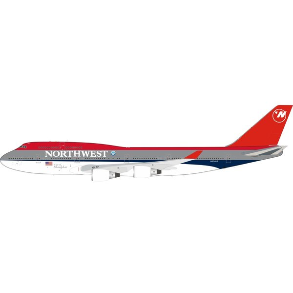 InFlight B747-400 Northwest Bowling Shoe Shanghai N674US 1:200