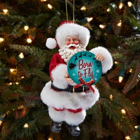 Ornament Santa Born to Fly