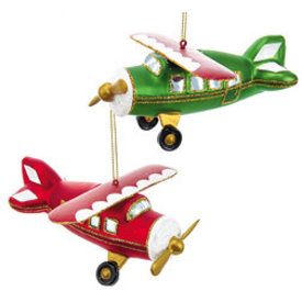 Ornament Glass Airplane