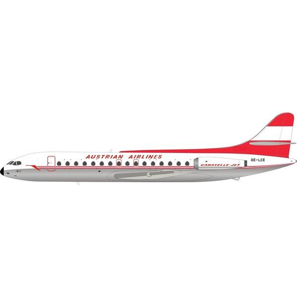 InFlight SE210 Caravelle VI-R Austrian OE-LCE 1:200 polished+NSI+