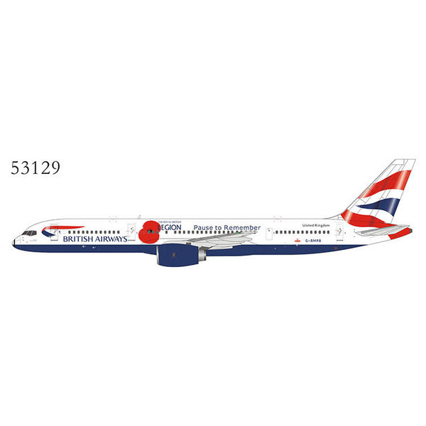 NG Models B757-200 British Airways Poppy Pause G-BMRB 1:400