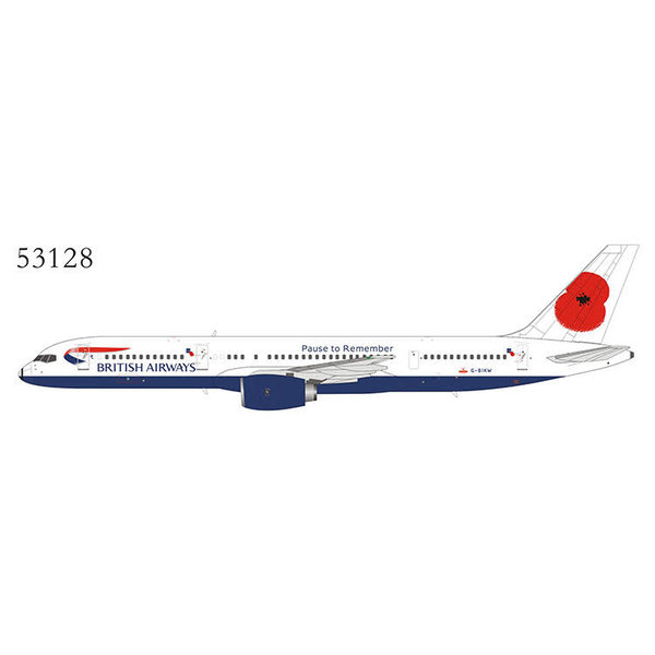 NG Models B757-200 British Airways Poppy Pause G-BIKW 1:400