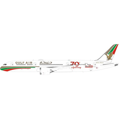 B787-9 Dreamliner Gulf Air 70th Retro A9C-FG 1:400