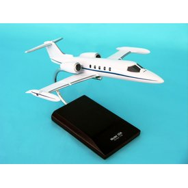 Lear 35A White Livery 1:48 with stand