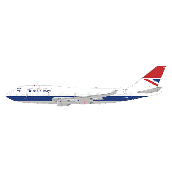 Gemini Jets B747-400 British Airways Negus Retro G-CIVB 1:200 Flaps down