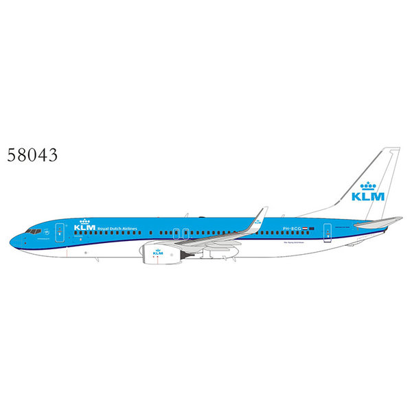 NG Models B737-800W KLM new livery 2014 PH-BCG 1:400