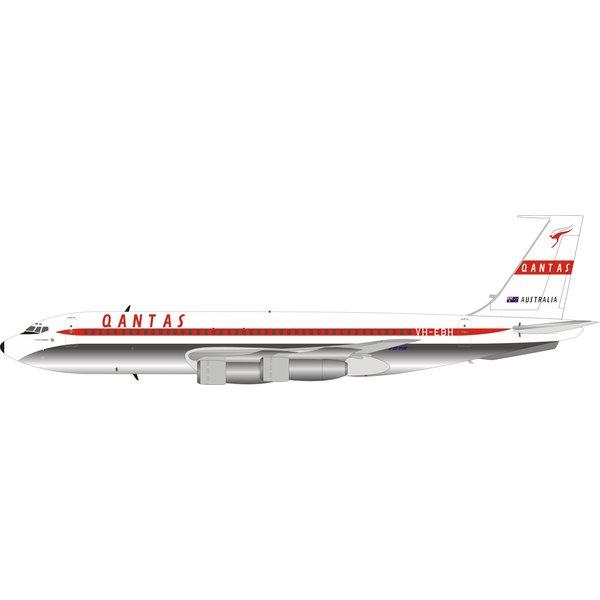 InFlight B707-100 QANTAS Australia Red C/L VH-EBH 1:200