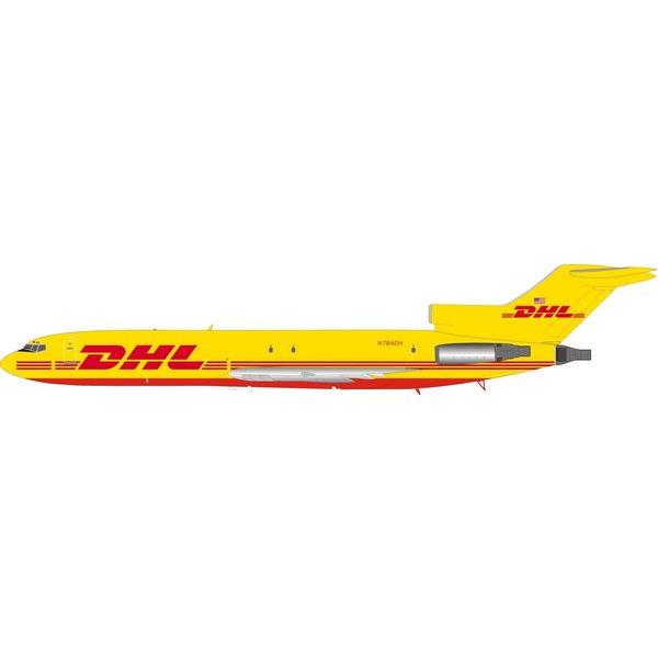 InFlight B727-200F DHL yellow livery N784DH 1:200