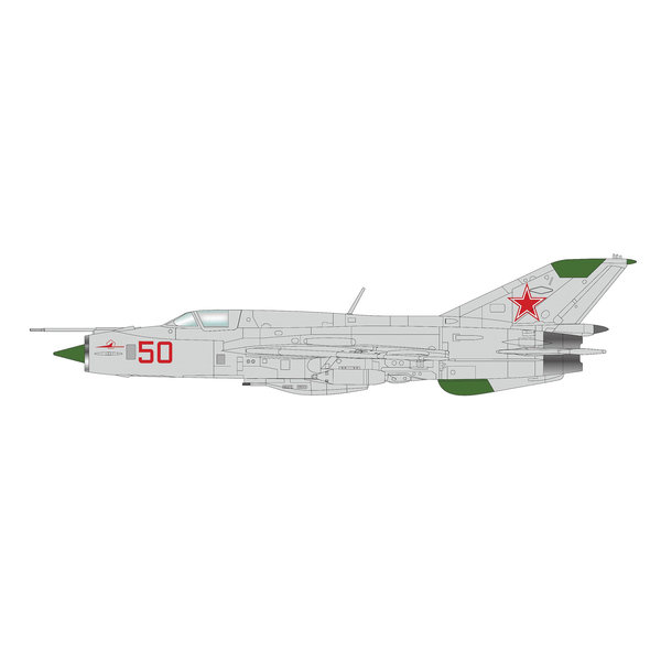 Hobby Master MIG21 PFM Fishbed RED50 Soviet Air Force 1:72