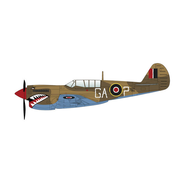 Hobby Master P40N Kittyhawk 112 Squadron RAF GA-? FX760 1:72