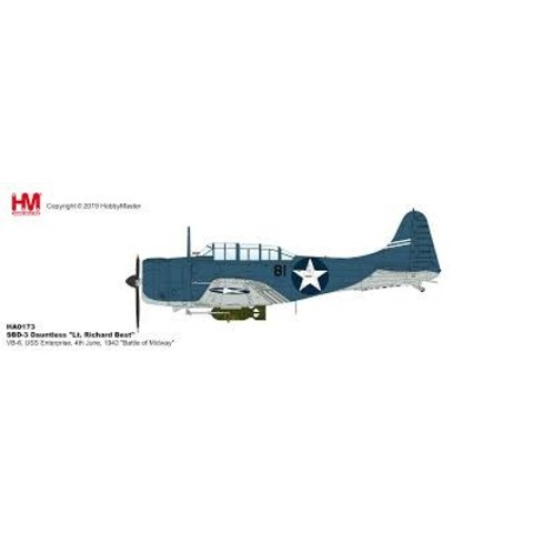 SBD3 Dauntless VB-6 Lt. Richard Best Midway 1:72